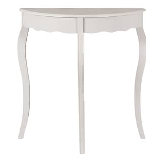 """ACCENT TABLE - 31""""L / ANTIQUE WHITE HALL CONSOLE"""