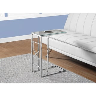 ACCENT TABLE - MIRROR TOP / CHROME METAL