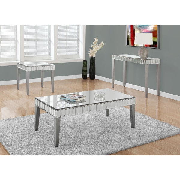 Brushed Silver Mirror Coffee Table 48 X 24
