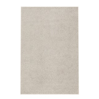"Soft Cozy Solid Cream Indoor Shag Area Rug (3'3"" X 5')"