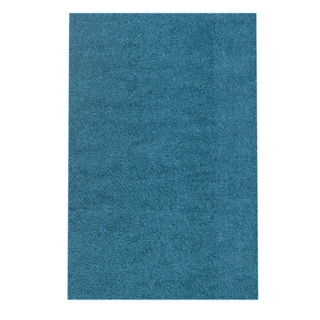 Soft Cozy Solid Turquoise Indoor Shag Area Rug (3'3 x 5')