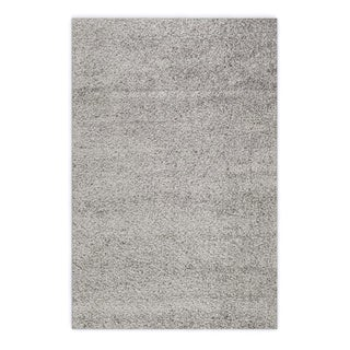 Soft Cozy Solid Light Grey Indoor Shag Area Rug (3'3 x 5')