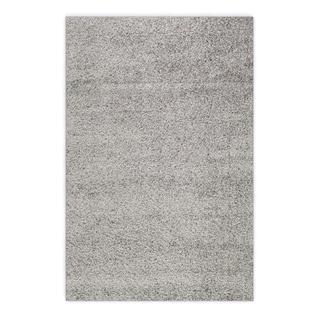 Soft Cozy Solid Light Grey Indoor Shag Area Rug (3'3 x 5')