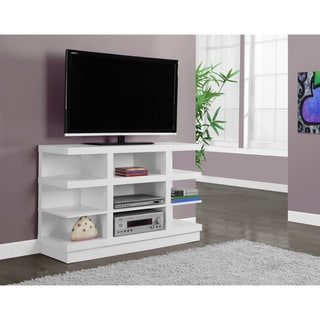 Monarch White Open Concept TV Console