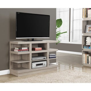 Monarch Dark Taupe Open Concept TV Stand