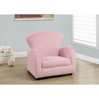 JUVENILE CHAIR - FUZZY PINK FABRIC