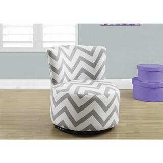 Juvenile Chair - Swivel with Grey Chevron Fabric