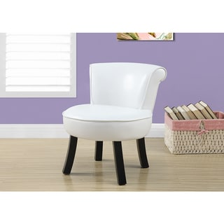 Monarch White Faux Leather Juvenile Chair