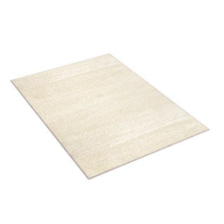 Soft Cozy Solid White Indoor Shag Area Rug (7'10 x 10')