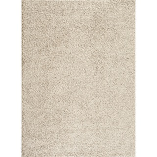 Soft Cozy Solid Cream Indoor Shag Area Rug (8' x 10')