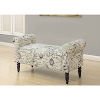 "bench - 44""l / traditional style vintage french fabric"