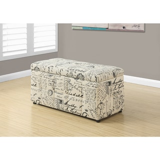 "Ottoman - 38""L / Storage/ Vintage French Fabric"