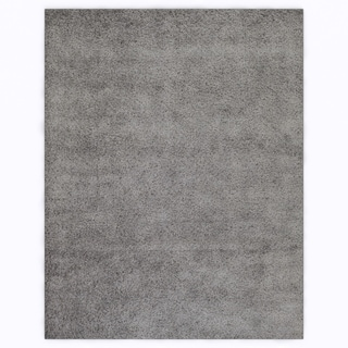 Soft Cozy Solid Light Grey Indoor Shag Area Rug (7'10 x 10')