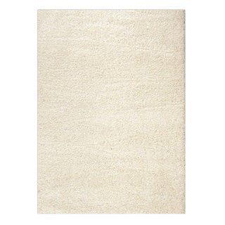 Soft Cozy Solid White Indoor Shag Area Rug (5' x 7')