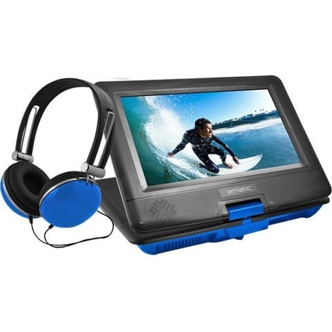 """Ematic EPD116 Portable DVD Player - 10"""" Display - 1024 x 600 - Blue"""