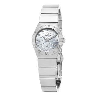 Omega Women's 123.10.24.60.55.003 'Constellation' Mother of Pearl Diamond Dial Stainless Steel Swiss https://ak1.ostkcdn.com/images/products/10746776/P17801709.jpg?impolicy=medium