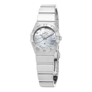Omega Women's 'Constellation' Mother of Pearl Diamond Dial Stainless Steel Swiss - silver