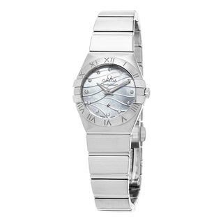Omega Women's 123.10.24.60.55.003 'Constellation' Mother of Pearl Diamond Dial Stainless Steel Swiss
