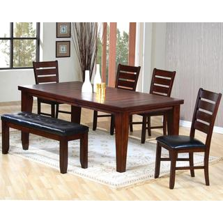 Blake Antique Plank Design Ladder Back Dining Set