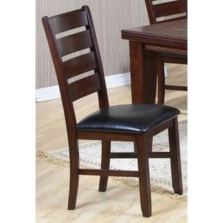 Blake Antique Plank Design Ladder Back Dining Chairs (Set of 2)
