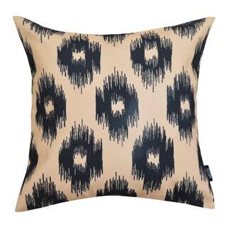 Tan Printed Ikat Cotton Cushion 20-inch Throw Pillow