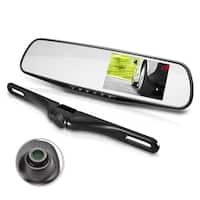 Pyle PLCMDVR45 Full HD 1080p DVR Dual Camera  Rearview Backup / Parking Assist, Record Video, Snap Pictures, Night Vision Camera