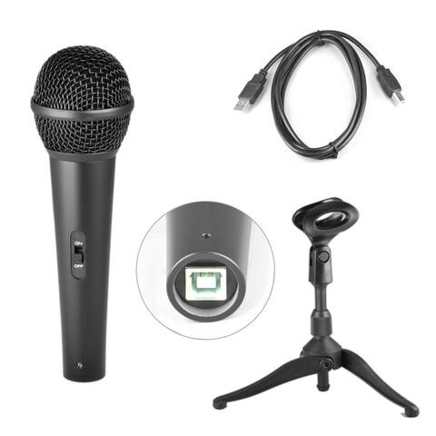 Pyle PDMICUSB6 Dynamic USB Microphone, Studio & Recording Mic