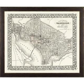 Vintage Framed City Map of Washington D.C