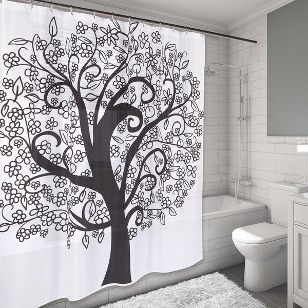 Shop The Tree Of Life Design Water Resistant Fabric Shower Curtain
