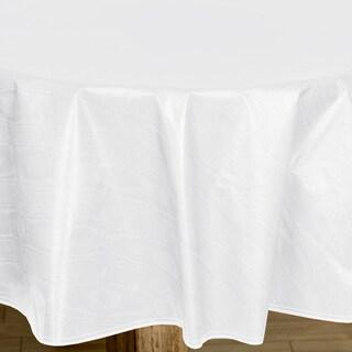 Premium Quality Round White Flannelback Vinyl Tablecoth