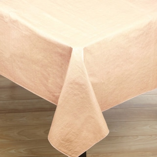 Premium Quality Oblong Ivory Flannelback Vinyl Tablecloth
