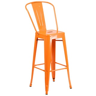 Colorful 45.25-inch Metal Bar Stool