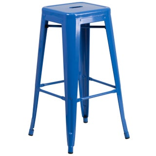 The Curated Nomad Liholio Backless Metal Bar Stool (3 options available)