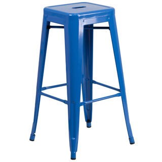 The Curated Nomad Liholio Backless Metal Bar Stool