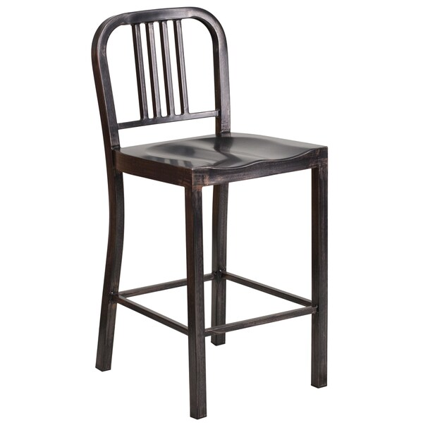 Flash Furniture Antique Metal Bar Stool