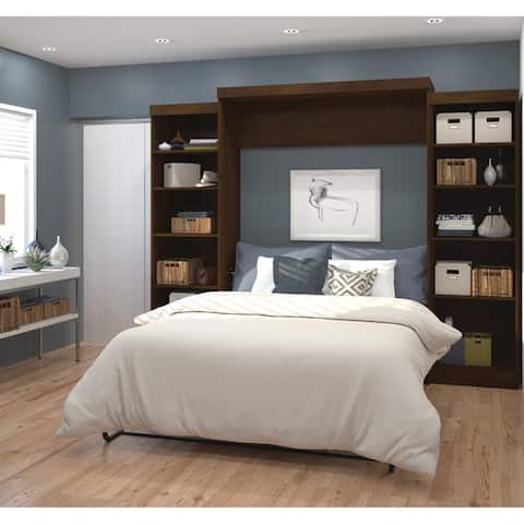 Pur by Bestar Queen Wall Bed Kit with Storage Units