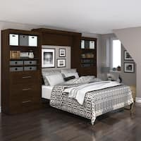 """Pur by Bestar 136"""" Queen Wall bed kit with six drawers"""
