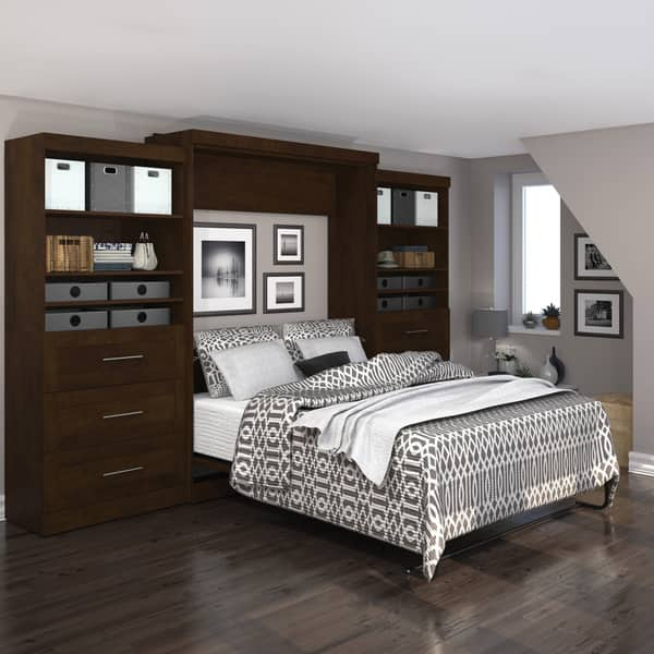 Shop Pur By Bestar 136 Queen Wall Bed Kit With Six Drawers Overstock 10746886