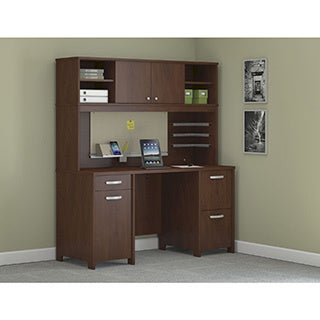 Envoy Double Pedestal Desk and Hutch