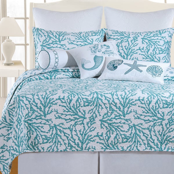 Nautical Bedding King: Shop Cotton Coastal Quilt (Shams Not Included)