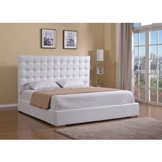 BELLA Collection White Eco-Leather King Bed by Casabianca Home