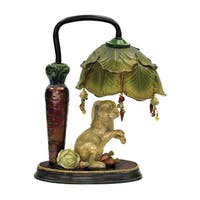 Sterling Rabbit Under Leaf Mini Accent Table Lamp