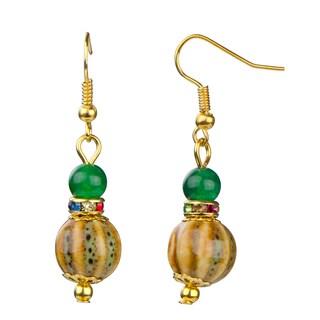Dangle Colorful Bead Earrings