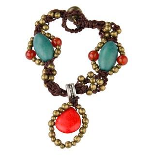 Handmade Pear Shape Charm Bracelet