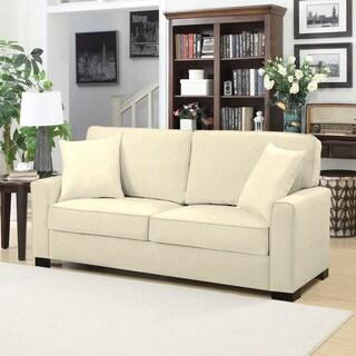 Handy Living Karsten Ivory Chenille SoFast Sofa