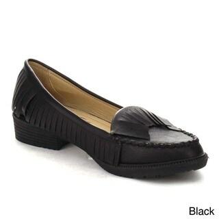 Beston AA58 Women's Boho Slip On Casual Fringe Moccasin Flat Heel Loafers