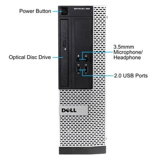 Dell Optiplex 390 Intel Core i5-2400 3.1GHz 2nd Gen CPU 4GB RAM 500GB HDD Windows 10 Pro Small Form Factor Computer (Refurbish