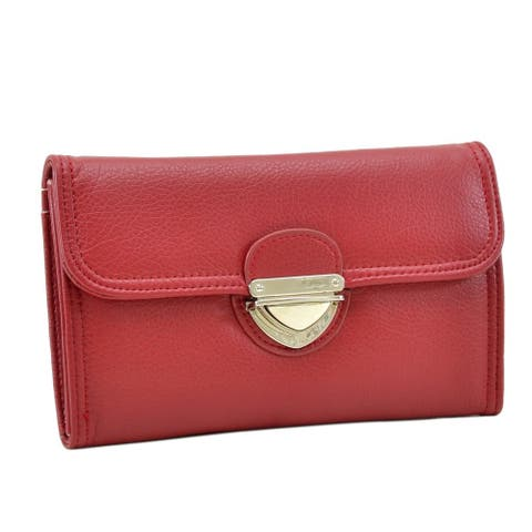 Dasein Faux Leather Wallet with Buckle Snap Closure