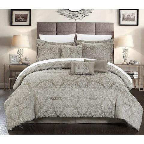 Chic Home 7-piece Nirvana Embossed Traditional Jacquard Motif Comforter Set