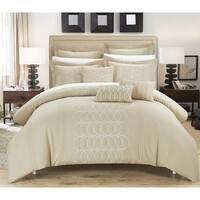 Chic Home 8-piece Tussard Oversized Beige Comforter Set